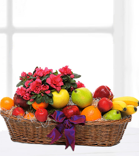 Teleflora's Plant & Fruit Basket